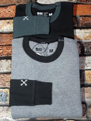 BLUCO ブルコ サーマルロングスリーブTシャツ 2PAC THERMAL SHIRTS カラー:グレー・チャコール
