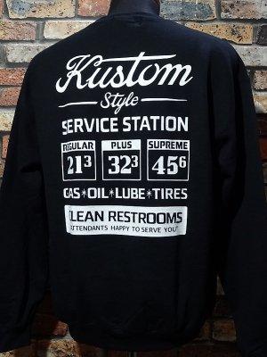 kustomstyle カスタムスタイル クルーネック スウェットトレーナー (KSSW2009BK) gas station crew neck カラー:ブラック