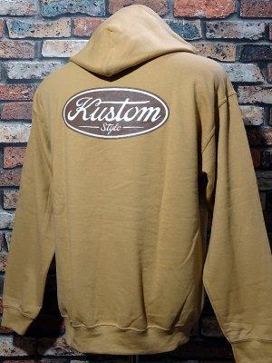 kustomstyle プルオーバー スウェットパーカー (KSP2008OG) motor company pullover hoodie カラー:オールドゴールド