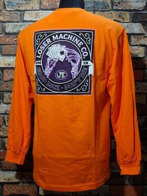 LOSER MACHINE ルーザーマシーン ロングスリーブTシャツ (SLOW HAND) Longsleeve Tee カラー:オレンジ