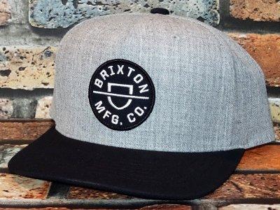 Brixton ブリクストン スナップバック キャップ crest C mp snapback  カラー:ヘザーグレー×ブラック