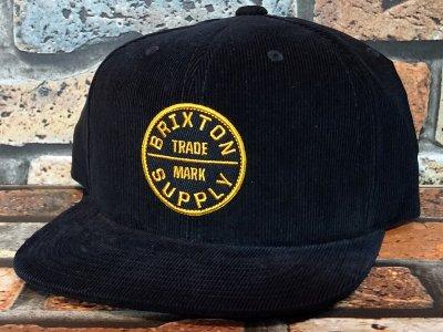 Brixton ブリクストン スナップバック キャップ oath 3 - corduroy snapback  カラー:ブラック