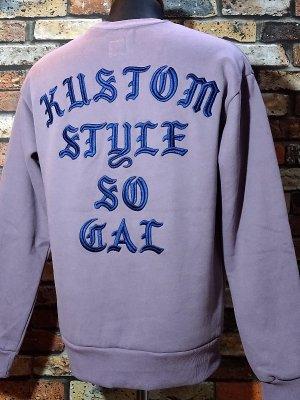 kustomstyle カスタムスタイル クルーネック スウェットトレーナー (KSSW2022LA) sit back crew neck sweat 刺繍logo カラー:ラベンダー