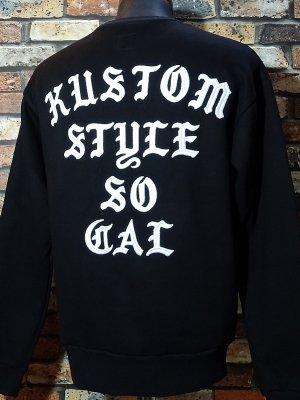 kustomstyle カスタムスタイル クルーネック スウェットトレーナー (KSSW2022BK) sit back crew neck sweat 刺繍logo カラー:ブラック
