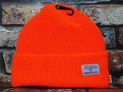 kustomstyle カスタムスタイル  ニットキャップ (KSKNC2024OR) service station beanie カラー:オレンジ