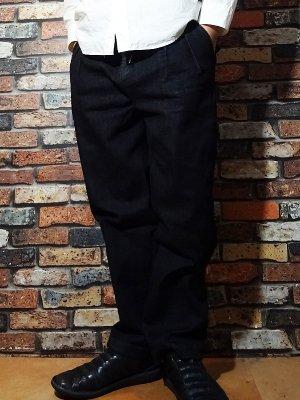 RealMinority リアルマイノリティー  ストレッチデニム イージーパンツ (COMPANY) stretch denim black カラー:ブラック
