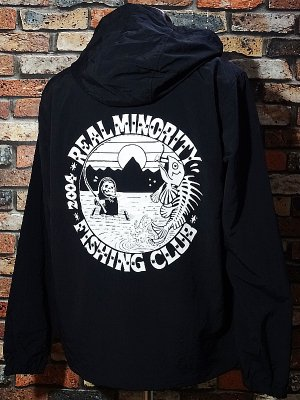 RealMinority リアルマイノリティー  プルオーバー アノラックパーカー (FISHING CLUB-2) カラー:ブラック