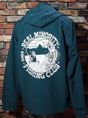 RealMinority リアルマイノリティー  プルオーバー アノラックパーカー (FISHING CLUB-2) カラー:アンティークグリーン