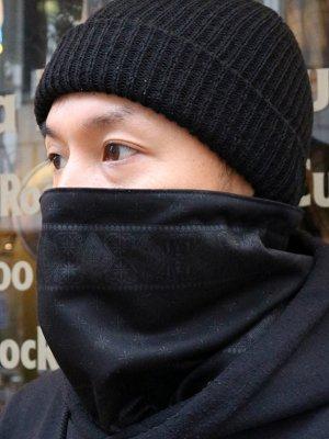 kustomstyle カスタムスタイル バンダナ柄ネックウォーマー (KSNW0902BKBK) bandana neck warmer カラー:ブラック×ブラック