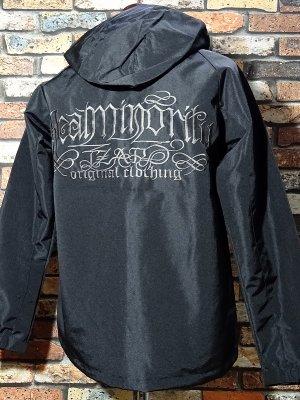 RealMinority リアルマイノリティー  マウンテン シェルパーカー (SPIRAL 刺繍LOGO) 防風・防水性に優れた生地 カラー:ブラック
