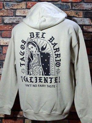 kustomstyle カスタムスタイル プルオーバー スウェットパーカー(CHP2003SA) tacos del barrio caliente pullover hoodie カラー:サンド