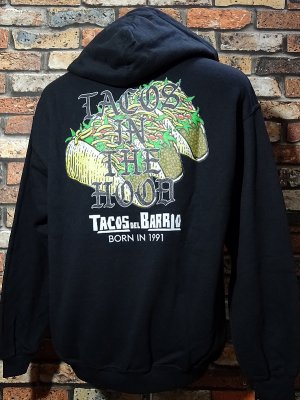 kustomstyle プルオーバー スウェットパーカー(CHP2004BK) tacos del barrio tacos in the hood pullover hoodie カラー:ブラック