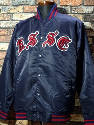 kustomstyle カスタムスタイル スタジャン (KSHWJ2026NY) praise the lowered nylon studium jacket カラー:ネイビー