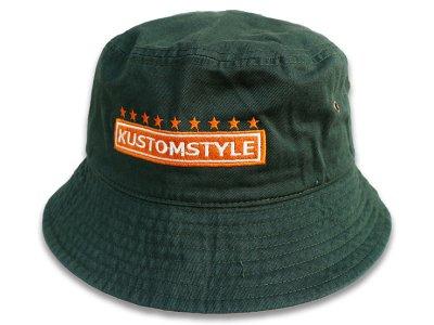 kustomstyle カスタムスタイル バケットハット(KSBH2003DG) classic wheels bucket hat カラー:ダークグリーン