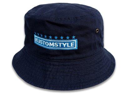 kustomstyle カスタムスタイル バケットハット(KSBH2003NY) classic wheels bucket hat カラー:ネイビー