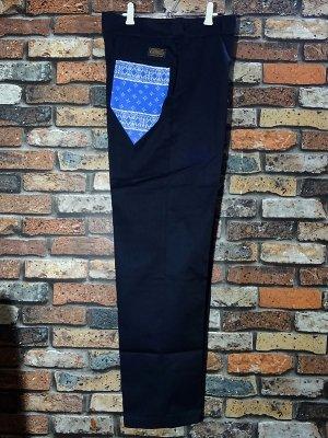 kustomstyle カスタムスタイル ワークパンツ (KSLP2013NY) los cerritos bandana work pants  カラー:ネイビー