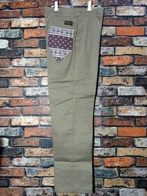 kustomstyle カスタムスタイル ワークパンツ (KSLP2013KH) los cerritos bandana work pants  カラー:カーキ