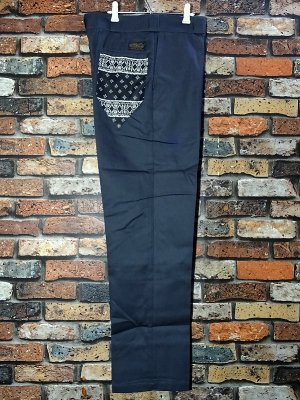 kustomstyle カスタムスタイル ワークパンツ (KSLP2013CH) los cerritos bandana work pants  カラー:チャコール