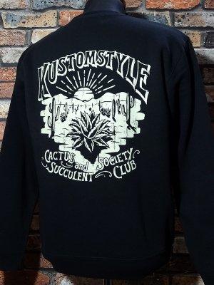 kustomstyle カスタムスタイル クルーネック スウェットトレーナー (KSSW2027BK) society club crew neck カラー:ブラック