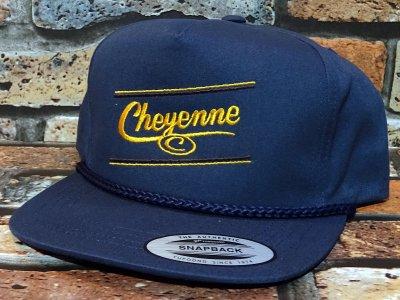 Cheyenne by Kustomstyle カスタムスタイル  スナップバックキャップ (CHCP2001NY) cheyenne icon rope snap back cap カラー:ネイビー