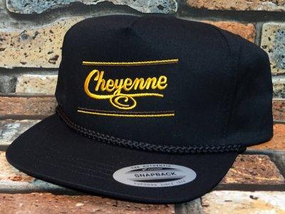 Cheyenne by Kustomstyle カスタムスタイル  スナップバックキャップ (CHCP2001BK) cheyenne icon rope snap back cap カラー:ブラック