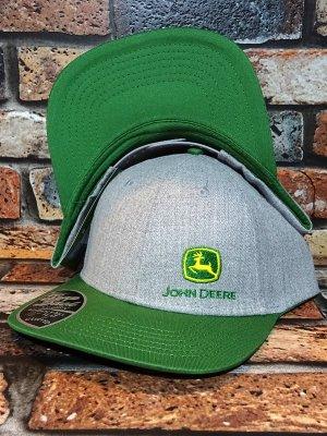 JOHNDEER ジョン・ディア スナップバック キャップ (Embroidery 19166) カラー:ヘザーグレー×グリーン