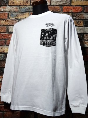 OG Classix オージークラッシックス ロングスリーブTシャツ (bandana long sleeve) カラー:ホワイト