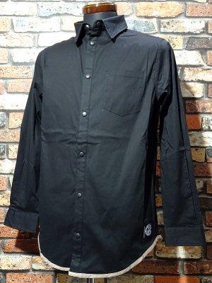 RealMinority リアルマイノリティー ストレッチ 長袖ルーズフィットシャツ(company) カラー:ブラック