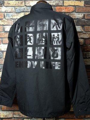 RealMinority リアルマイノリティー コーチジャケット (ENJOY LIFE) カラー:ブラック×ブラック