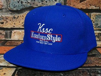 kustomstyle カスタムスタイル  スナップバックキャップ (KSCP2102RBL) the way we are snap カラー:ロイヤルブルー