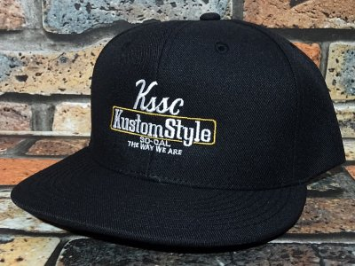 kustomstyle カスタムスタイル  スナップバックキャップ (KSCP2102BK) the way we are snap カラー:ブラック