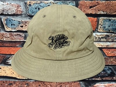 kustomstyle カスタムスタイル メトロハット(KSBOWLHT1101BE) norm logo wax coated bowl hat カラー:ベージュ