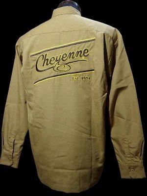 kustomstyle-Cheyenne シャイアン 長袖ワークシャツ (CHLS2001MUS) cheyenne icon long sleve shirts カラー:マスタード