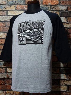 LoserMachine ルーザーマシーン 3/4ラグランスリーブTシャツ (GOAL KEEPER RAGLAN) カラー:グレー×ブラック