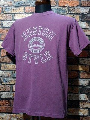 kustomstyle カスタムスタイル Tシャツ (KST2028BE) tri-five colledge カラー:ベリー