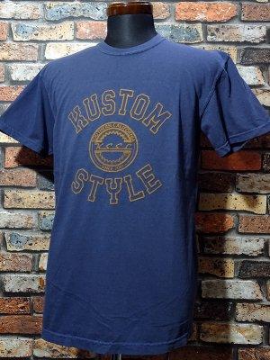 kustomstyle カスタムスタイル Tシャツ (KST2028NY) tri-five colledge カラー:ネイビー