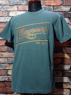 kustomstyle-Cheyenne シャイアン Tシャツ (CHT2001SF) cheyenne icon カラー:グリーン
