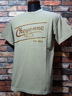 kustomstyle-Cheyenne シャイアン Tシャツ (CHT2001KH) cheyenne icon カラー:カーキ