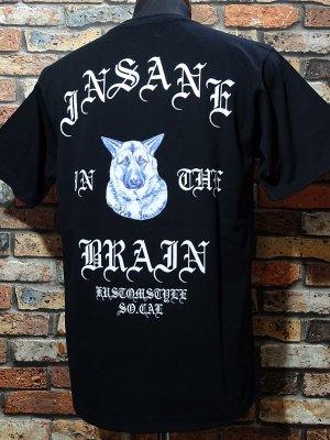 kustomstyle カスタムスタイル Tシャツ (KST2105BK) insane in the brain カラー:ブラック