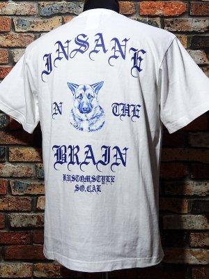 kustomstyle カスタムスタイル Tシャツ (KST2105WH) insane in the brain カラー:ホワイト