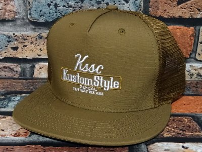 kustomstyle カスタムスタイル メッシュキャップ(KSCP2102COMESH) the way we are ripstop cotton mesh cap カラー:コヨーテ