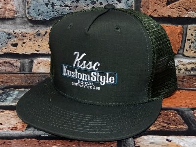 kustomstyle カスタムスタイル メッシュキャップ(KSCP2102OLMESH) the way we are ripstop cotton mesh cap カラー:オリーブ
