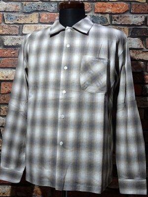 kustomstyle カスタムスタイル 長袖チェックシャツ (KSLCS2104BR) tri-five check shirts カラー:ブラウン系
