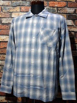 kustomstyle カスタムスタイル 長袖チェックシャツ (KSLCS2104BL) tri-five check shirts カラー:ブルー系