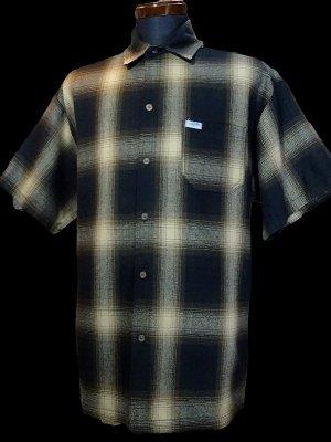 CalTop  キャルトップ 半袖チェックシャツ FL PLAID SHORT SHIRT カラー:ブラウン