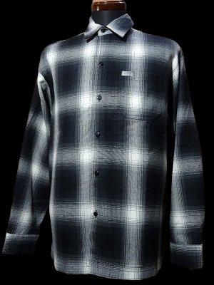 CalTop  キャルトップ 長袖チェックシャツ FL PLAID LONG SHIRT カラー:ブラック