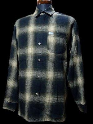CalTop  キャルトップ 長袖チェックシャツ FL PLAID LONG SHIRT カラー:ブラウン