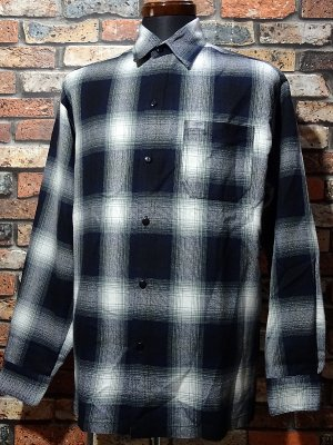 CalTop  キャルトップ 長袖チェックシャツ FL PLAID LONG SHIRT カラー:ネイビー
