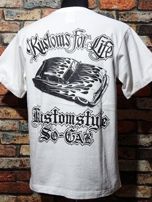 kustomstyle カスタムスタイル Tシャツ 20th ANIV. REPRINT SERIES (KST00301WH) kustoms for life カラー:ホワイト
