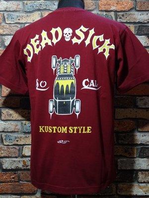 kustomstyle カスタムスタイル Tシャツ 20th ANIV. REPRINT SERIES (KST0305BG) dead sick カラー:バーガンディー